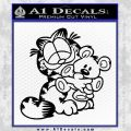 Garfield w Pookie Decal Sticker Black Vinyl 120x120