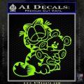 Garfield w Pookie Decal Sticker Lime Green Vinyl 120x120