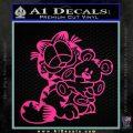 Garfield w Pookie Decal Sticker Pink Hot Vinyl 120x120