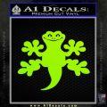 Gecko Lizard Decal Sticker Lime Green Vinyl 120x120