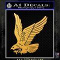Hawk Decal Sticker Swooping Gold Vinyl 120x120