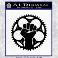 I Am Traffic Resistance Fist Biking Cycling D1 Decal Sticker Black Vinyl 120x120