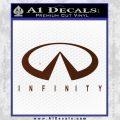 Infinity Motors Full Decal Sticker BROWN Vinyl 120x120