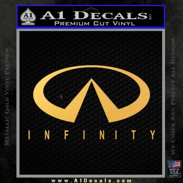 Infinity Motors Full Decal Sticker Gold Vinyl