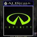 Infinity Motors Full Decal Sticker Lime Green Vinyl 120x120
