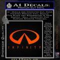 Infinity Motors Full Decal Sticker Orange Emblem 120x120