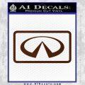 Infinity Motors Logo Emblem Decal Sticker BROWN Vinyl 120x120