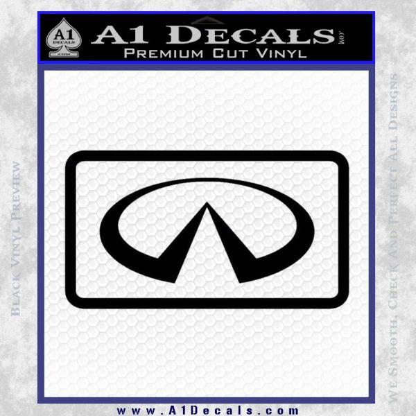 Infinity Motors Logo Emblem Decal Sticker Black Vinyl