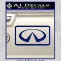 Infinity Motors Logo Emblem Decal Sticker Blue Vinyl 120x120