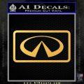 Infinity Motors Logo Emblem Decal Sticker Gold Vinyl 120x120