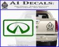 Infinity Motors Logo Emblem Decal Sticker Green Vinyl Logo 120x97