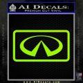 Infinity Motors Logo Emblem Decal Sticker Lime Green Vinyl 120x120