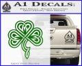 Irish Shamrock Clover Celtic D1 Decal Sticker Green Vinyl Logo 120x97