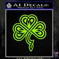 Irish Shamrock Clover Celtic D1 Decal Sticker Lime Green Vinyl 120x120