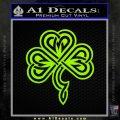 Irish Shamrock Clover Celtic D1 Decal Sticker Lime Green Vinyl 120x120