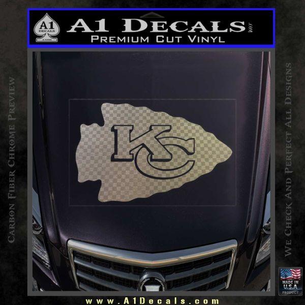 Kansas city arrow decal sticker carbon fiber chrome vinyl 120x120