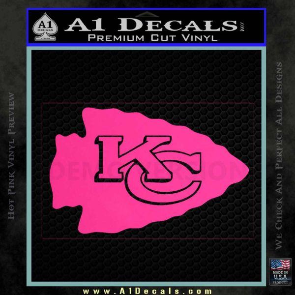 Kansas city arrow decal sticker pink hot vinyl 120x120