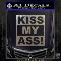 Kiss My Ass RT Decal Sticker Carbon FIber Chrome Vinyl 120x120