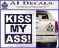 Kiss My Ass RT Decal Sticker PurpleEmblem Logo 120x97