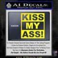 Kiss My Ass RT Decal Sticker Yellow Laptop 120x120