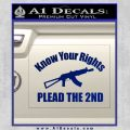 Know Your Rights Plead The 2nd Decal Sticker Blue Vinyl 120x120