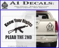 Know Your Rights Plead The 2nd Decal Sticker Carbon FIber Black Vinyl 120x97