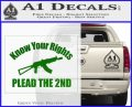 Know Your Rights Plead The 2nd Decal Sticker Green Vinyl Logo 120x97