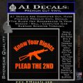 Know Your Rights Plead The 2nd Decal Sticker Orange Emblem 120x120
