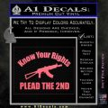 Know Your Rights Plead The 2nd Decal Sticker Pink Emblem 120x120