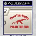Know Your Rights Plead The 2nd Decal Sticker Red 120x120