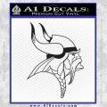 Minnesota Vikings Decal Sticker Black Vinyl 120x120