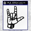 Rocker Hand Devil Fist Decal Sticker Black Vinyl 120x120