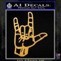 Rocker Hand Devil Fist Decal Sticker Gold Vinyl 120x120