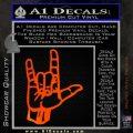 Rocker Hand Devil Fist Decal Sticker Orange Emblem 120x120