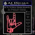Rocker Hand Devil Fist Decal Sticker Pink Emblem 120x120