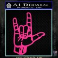 Rocker Hand Devil Fist Decal Sticker Pink Hot Vinyl 120x120