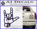Rocker Hand Devil Fist Decal Sticker PurpleEmblem Logo 120x97