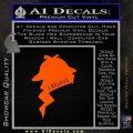 Sherlock Holmes I Believe In D1 Decal Sticker Orange Emblem Black 120x120