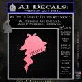 Sherlock Holmes I Believe In D1 Decal Sticker Soft Pink Emblem Black 120x120