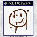 Sherlock Holmes Smilie Face Decal Sticker BROWN Vinyl 120x120