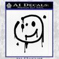 Sherlock Holmes Smilie Face Decal Sticker Black Vinyl 120x120