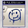 Sherlock Holmes Smilie Face Decal Sticker Blue Vinyl 120x120