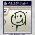 Sherlock Holmes Smilie Face Decal Sticker Dark Green Vinyl 120x120