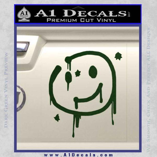 Sherlock Holmes Smilie Face Decal Sticker Dark Green Vinyl