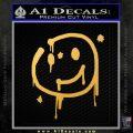 Sherlock Holmes Smilie Face Decal Sticker Gold Vinyl 120x120