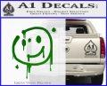 Sherlock Holmes Smilie Face Decal Sticker Green Vinyl Logo 120x97