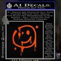 Sherlock Holmes Smilie Face Decal Sticker Orange Emblem 120x120