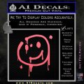 Sherlock Holmes Smilie Face Decal Sticker Pink Emblem 120x120