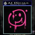 Sherlock Holmes Smilie Face Decal Sticker Pink Hot Vinyl 120x120