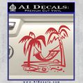 Vacation Decal Sticker Red 120x120